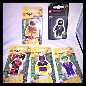 New Lego Batman Movie Erasers DC Comics set of 5